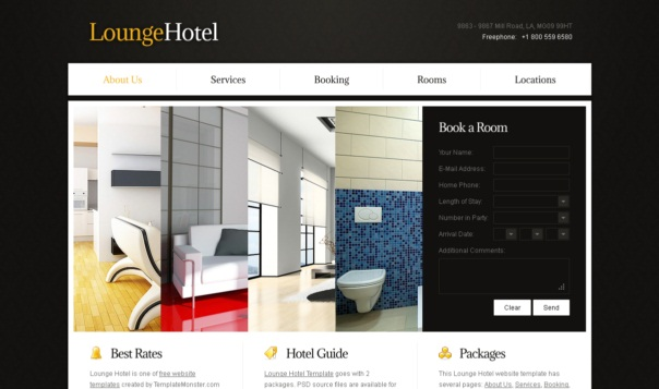 Loungehotel free html5 template html5xcss3 lounge hotel free html5 and css3 templates maxwellsz