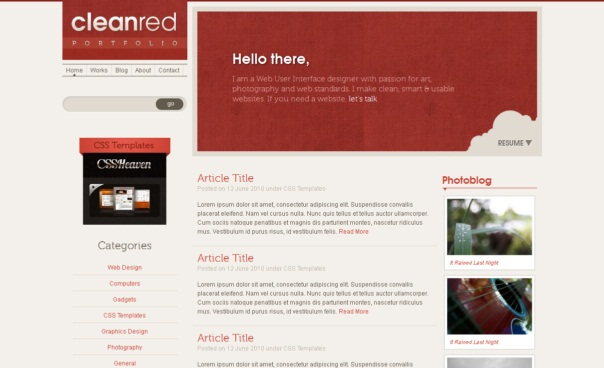 cleanred-free-html5-and-css3-templates
