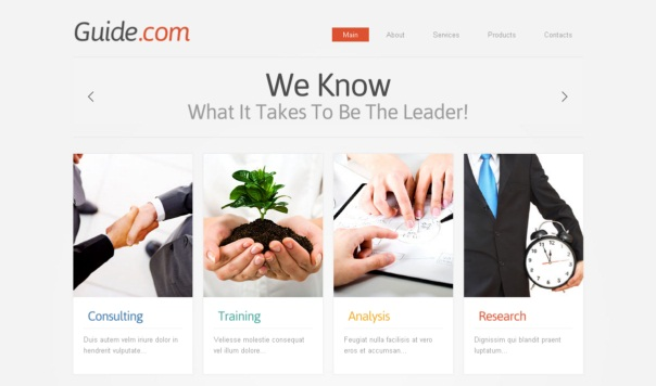 guide-free-html5-and-css3-templates