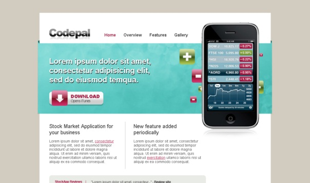 iphoneapp-free-html5-and-css3-templates