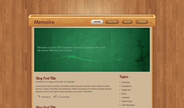 memoir-free-html5-and-css3-templates