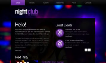 NightClub – Free Html5 Template