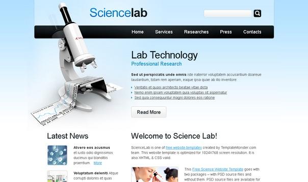 sciencelab-free-html5-templates