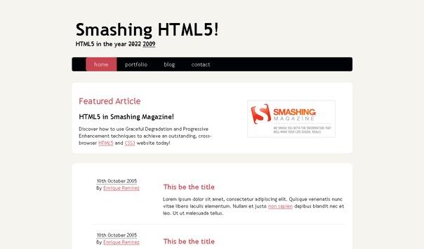 smashing-html5-template