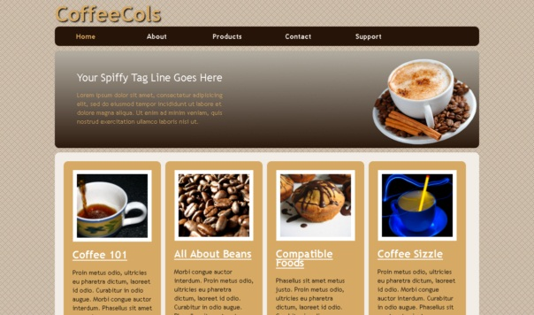 Coffeecols Template [Free Html5 Templates]