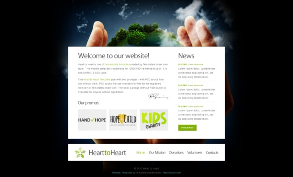 Heart to heart theme [Free Html5 Templates]