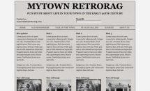 MyTownRetroRag Template [Free Html5 Templates]