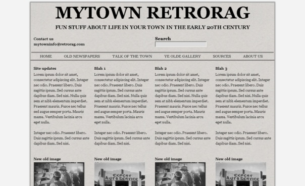 MyTownRetroRag Template [Free Html5 Templates]