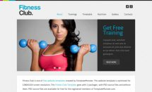 free fitness club template [Free Html5 Templates]
