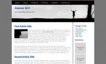 free joyousgirl template [Free Html5 Templates]