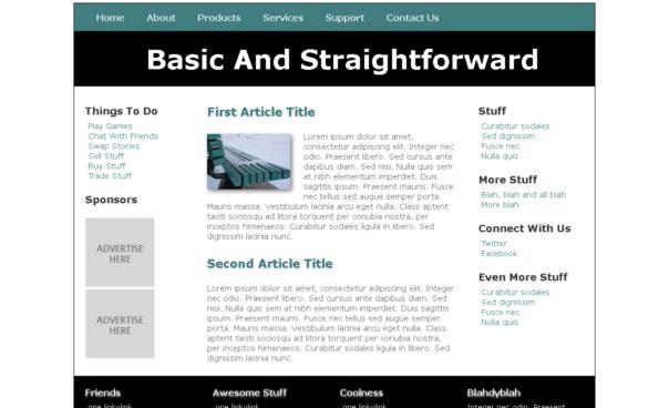 free straight forward tempate [Free Html5 Templates]