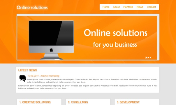 online solutions - free html5 templates [Free Html5 Templates]