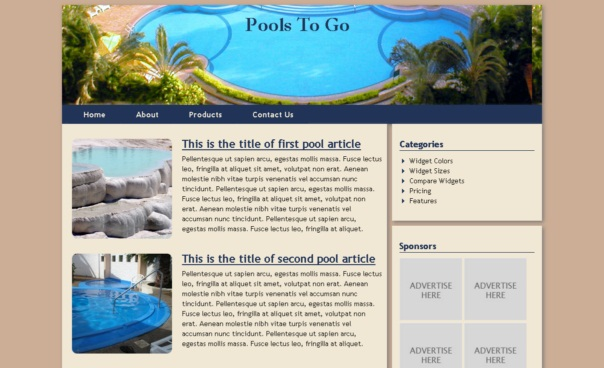poolstogo template [Free Html5 Templates]