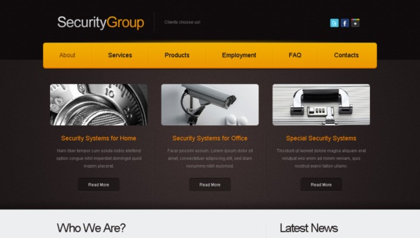 securitygroup template [Free Html5 Templates]