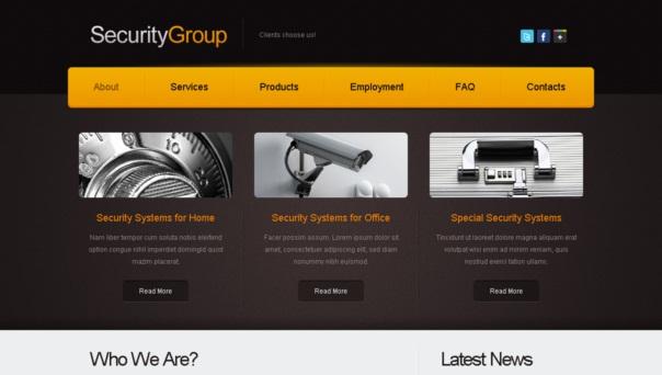 securitygroup template [Free Html5 Templates]