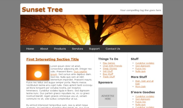 sunsettree template [Free Html5 Templates]