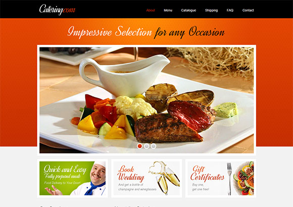 catering free html5 template html5xcss3