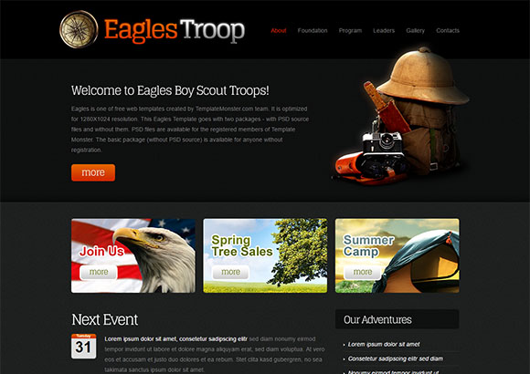 EaglesTroop Html5 Theme