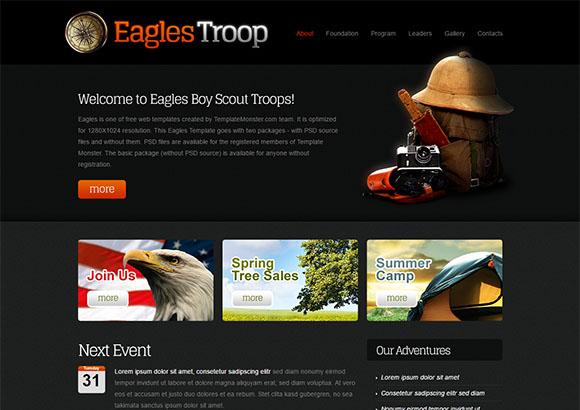 EaglesTroop Html5 Theme