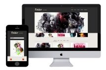 Folder free responsive html5 template