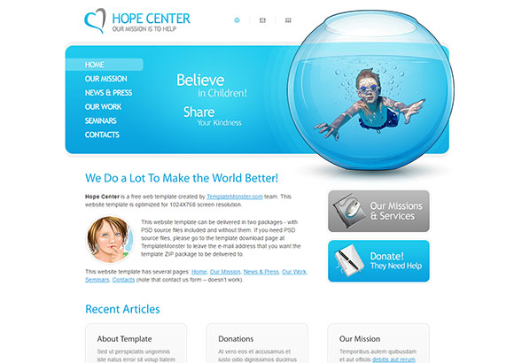 HopeCenter2 Html5 Theme