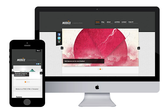 Modus free responsive html5 template