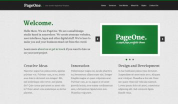 PageOne – Free Html5 Template