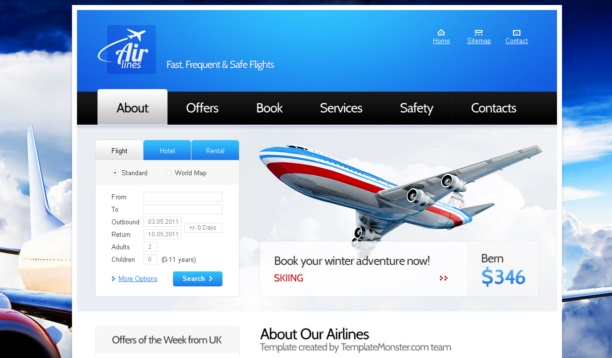 airline2 theme [Free Html5 Templates]