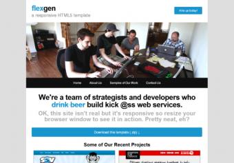Flexgen – Responsive Html5 Template