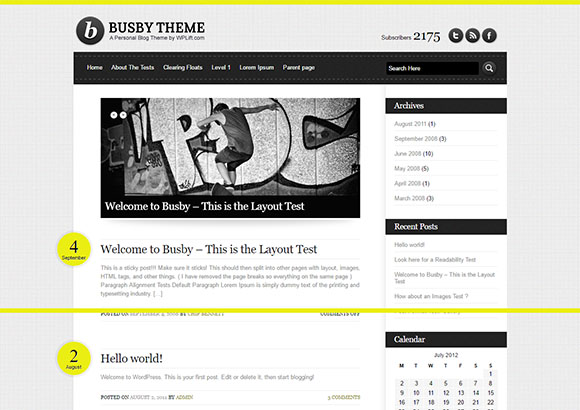 Busby Html5 Theme