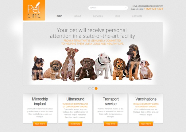 pet clinic theme [Free Html5 and Css3 Templates]