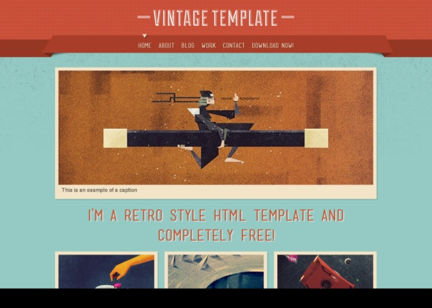 vintage theme [Free Html5 and Css3 Templates]