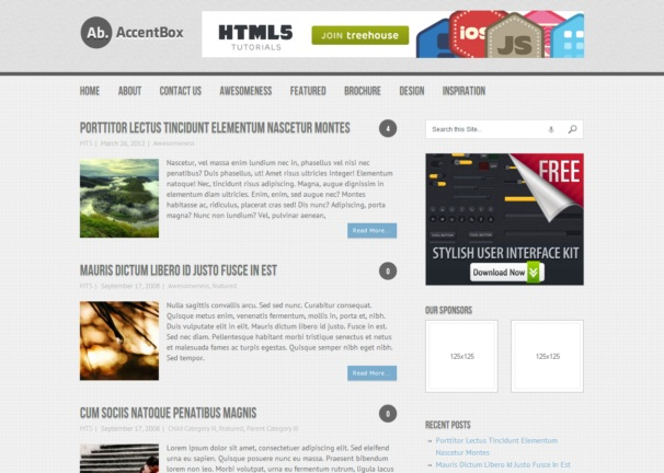 Accentbox theme [Free Html5 and Css3 Templates]