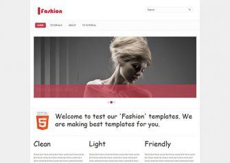 Fashion – Free Html5 Template