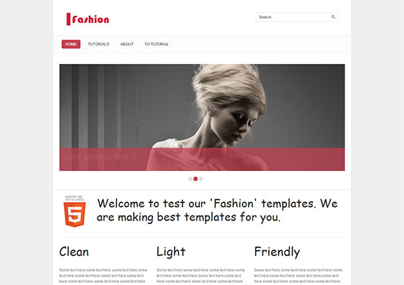 -Fashion single page layout Script tutorials demo