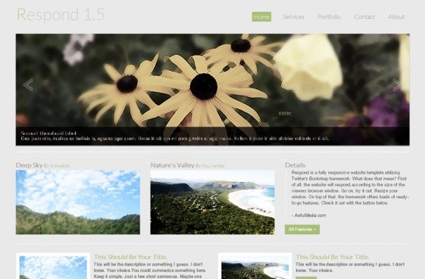 Respond theme [Free Html5 and Css3 Templates]