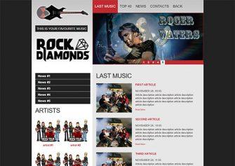 RockDiamonds – Free Html5 Template
