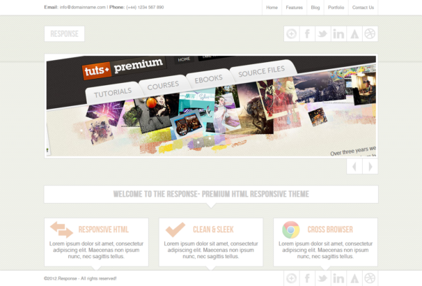 response theme [Free Html5 and Css3 Templates]
