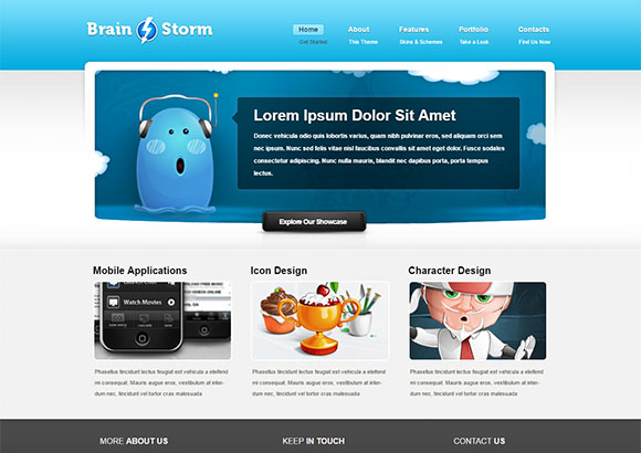 Brain Storm Free CSS template by ChocoTemplates.com