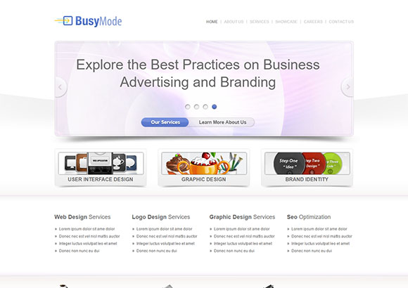 Busymode Free CSS template by ChocoTemplates.com