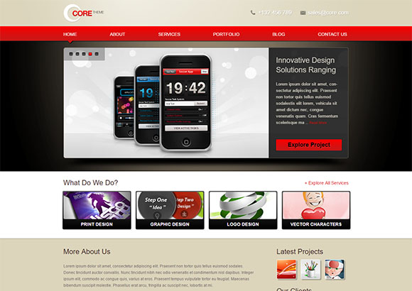 Core Free CSS template by ChocoTemplates.com