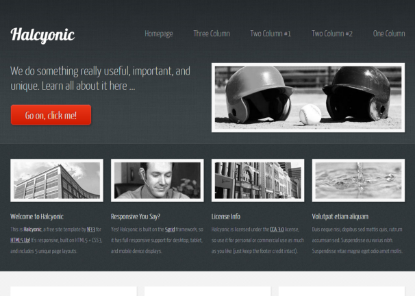 Halcyonic theme [Free Html5 and Css3 Templates]