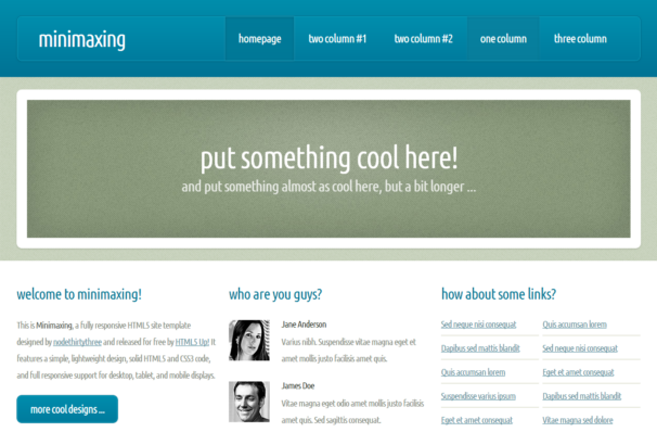 Minimaxing Theme [Free Html5 and Css3 Templates]