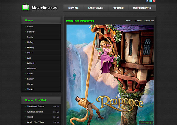 Moviereviews Free CSS template by ChocoTemplates.com