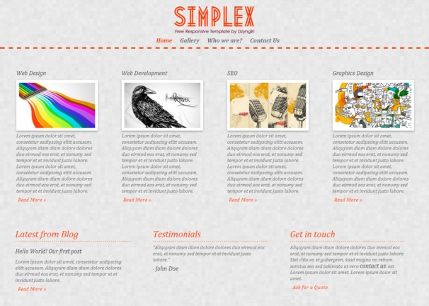 simplex theme [Free Html5 and Css3 Templates]