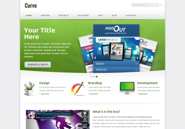 Curve responsive html5 template html5xcss3 for Free website templates html5