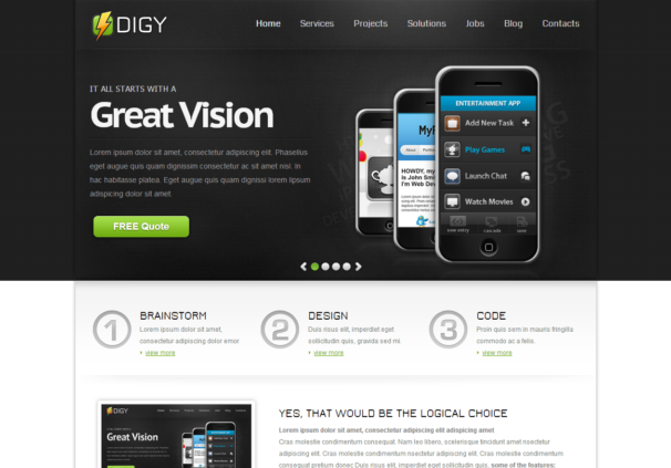 Digy theme [Free Html5 and Css3 Templates]