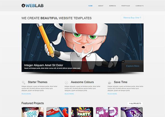 WebLab Free CSS template by ChocoTemplates.com