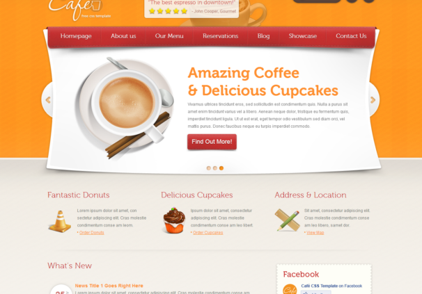 cafe theme [Free Html5 and Css3 Templates]