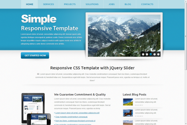Html website templates code no css creating a responsive simple.